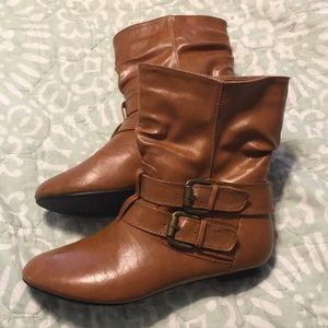 Mod Cloth camel colored boots